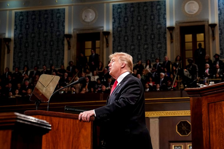 Image: President Donald Trump delivers the State of the Union address on Feb. 5, 2019.