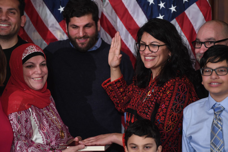 Image: Rep. Rashida Tlaib takes the oath of office