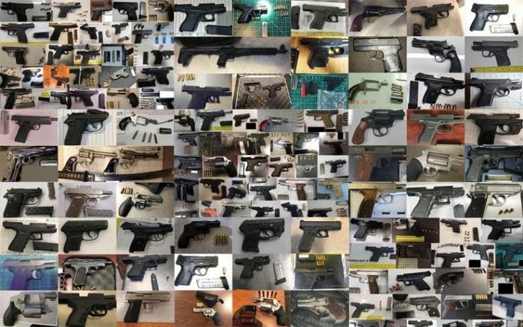 Image: TSA confiscated firearms