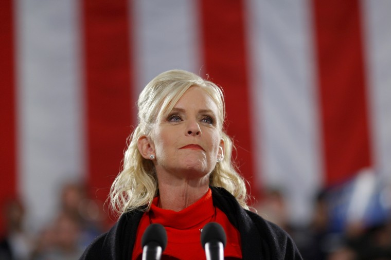 Images: Cindy McCain speaks at a campaign rally in Prescott, Arizona, on Nov. 4, 2008.