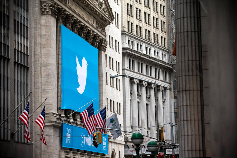 Image: A banner for Twitter on the New York Stock Exchange on Nov. 7, 2013.