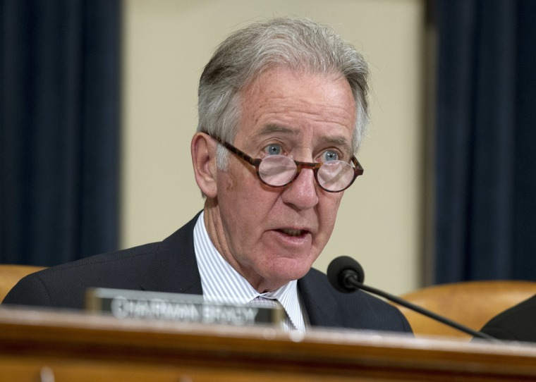 Image: Rep. Richard Neal, ranking member of the House Ways and Means Committee, speaks at a hearing on April 12, 2018.
