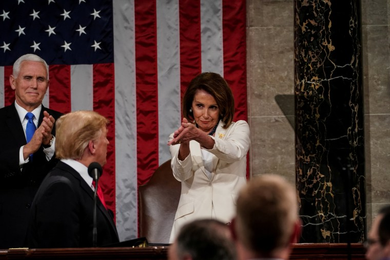 Image: President Donald Trump delivered the State of the Union address, with Vice President Mike Pence and Speaker of the House Nancy Pelosi, at the Capitol in Washington