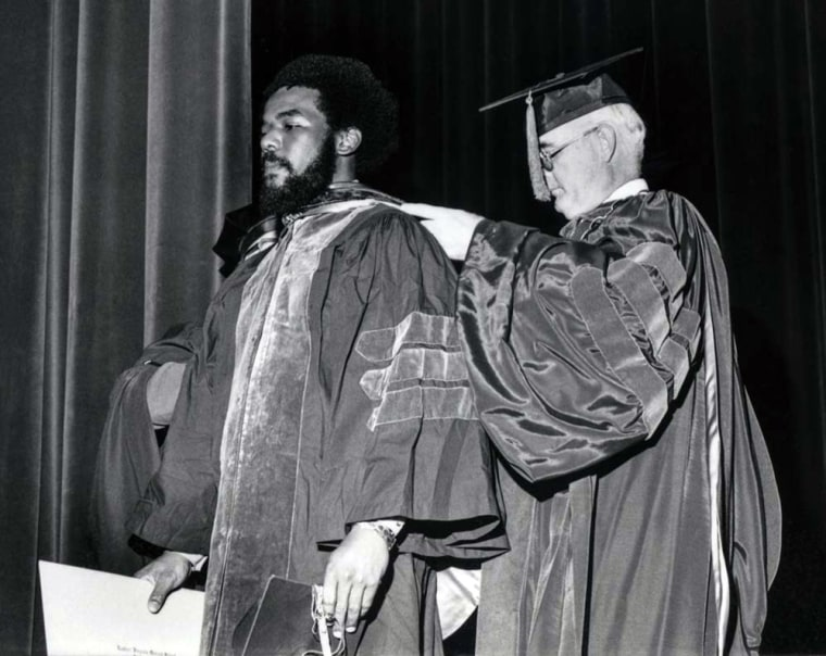 Image: Marcus L. Martin at his 1976 graduation from Eastern Virginia Medical School
