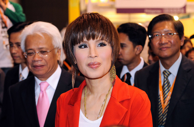 Image: Thai Princess Ubolratana visiting the Thailand pavilion at the Hong Kong Entertainment Expo.