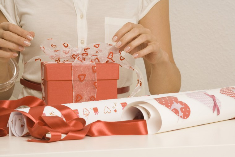 Image: Woman Wrapping Gift