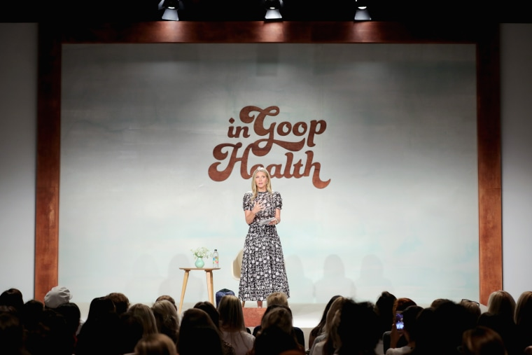 Image: Gwyneth Paltrow speaks at the goop Health Summit in Culver City, California, on June 9, 2018.