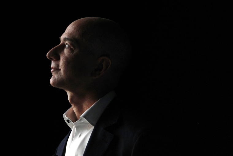 Image: Jeff Bezos, chief executive officer of Amazon, at a news conference in California on Sept. 6, 2012.