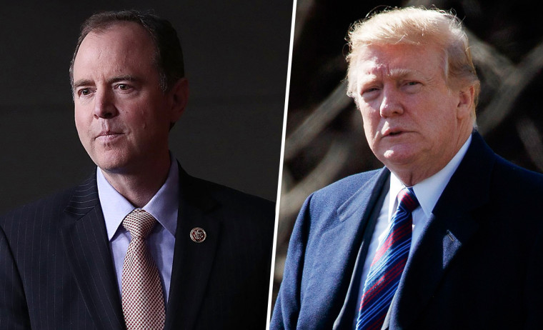 Image: Rep. Adam Schiff, D-Calif., and President Donald Trump.