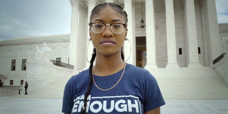 Aalayah Eastmond, a survivor of the Parkland school shooting