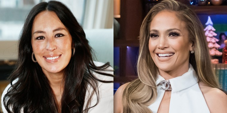 "Jennifer Lopez and Joanna Gaines for a post about J.Lo's love of Gaines and ""Fixer Upper."""