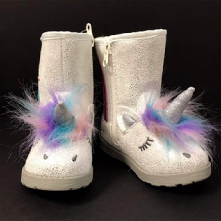 Target recalls kids' unicorn boots due