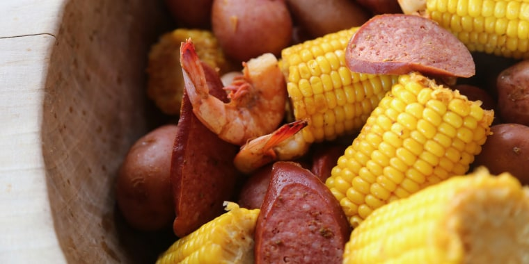 Bowen's Island Frogmore Stew is an ode to a South Carolina Lowcountry community gatherings, and perfect for a group meal.