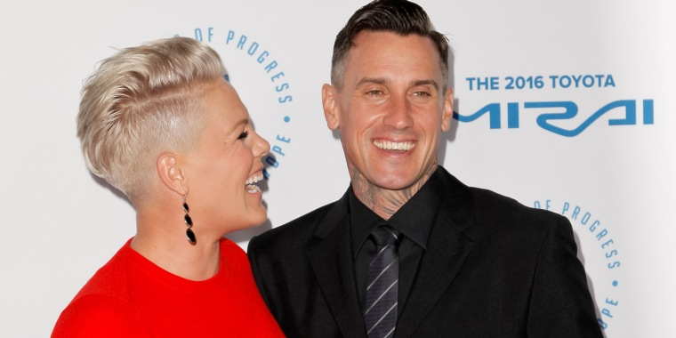 Pink once slashed her husband's tires because 'the holidays are stressful'