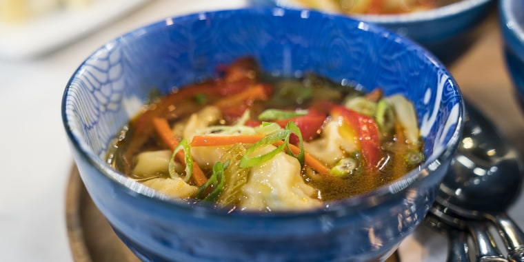 David Venable's pot sticker soup