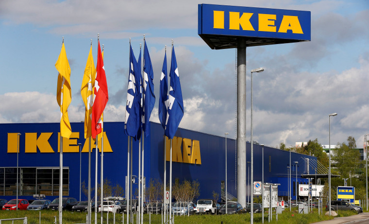 Image: The company's logo outside of an IKEA Group store.