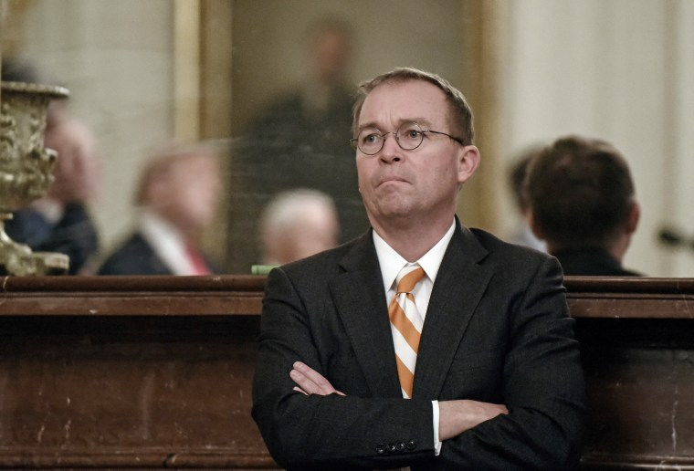 Chief of Staff Mick Mulvaney at the White House on Jan. 14, 2019 in Washington.