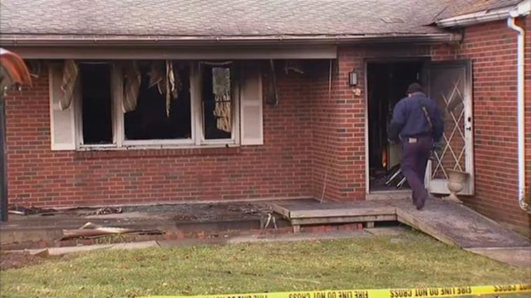 Image: The bodies of an elderly woman and her middle-aged son were found in a burned-out house in Palmer Township, Pennsylvania, following a fire on Jan. 4, 2019.