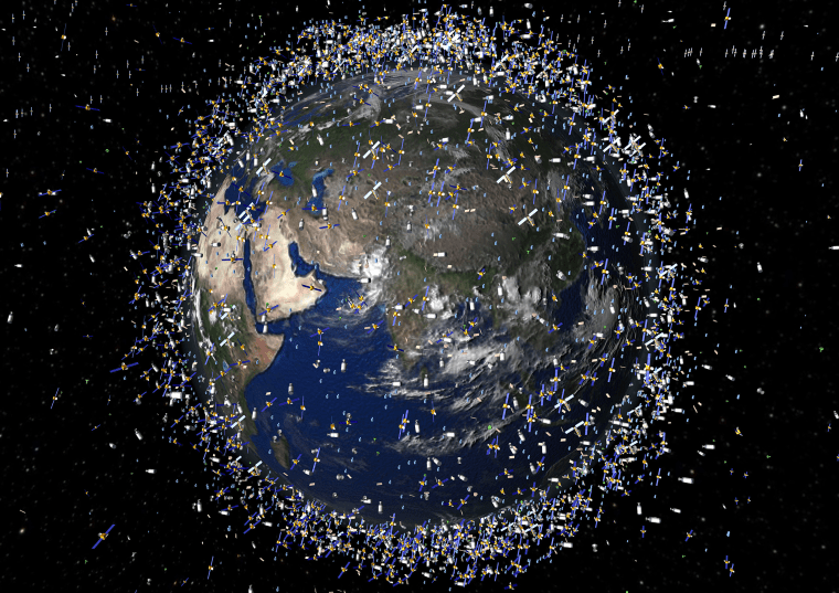 Image: Artist depiction, Satellites in Earth Orbit