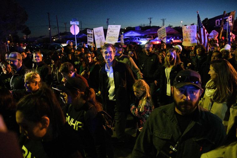 Image: O'Rourke, the Democratic former Texas congressman, participates in a march in El Paso
