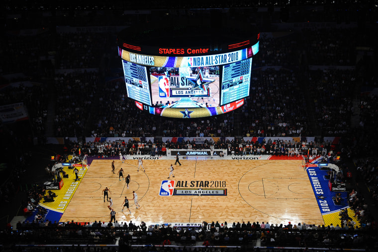 Image: A view of the STAPLES Center during the NBA All-Star Game in Los Angeles on Feb. 18, 2018.