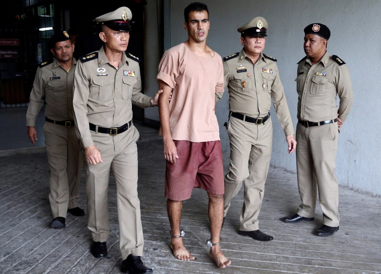 Image: Jailed Bahraini footballer Hakeem Al Araibi leaves Thailand's Criminal Court, in Bangkok