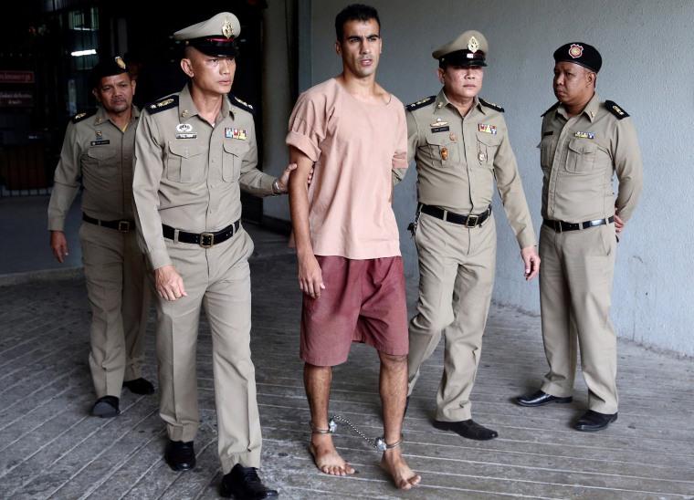 Image: Jailed Bahraini footballer Hakeem Al Araibi leaves Thailand's Criminal Court, in Bangkok