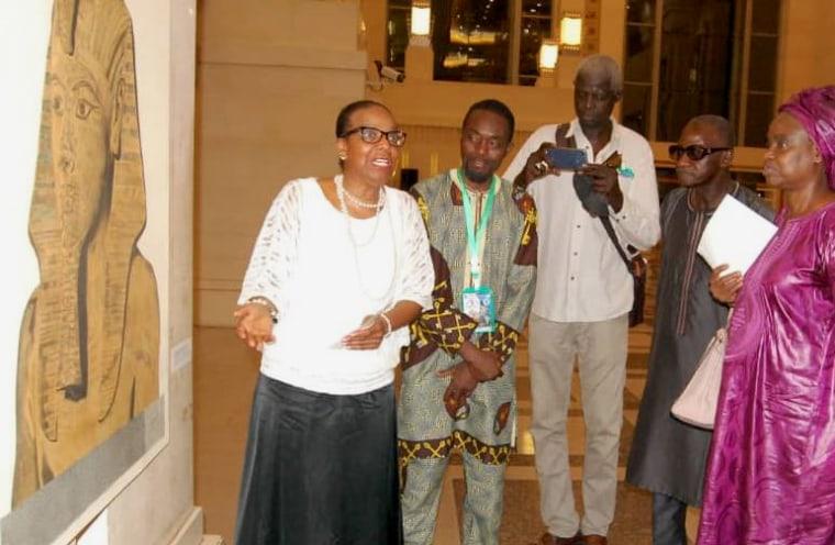 Image: Ana Castillo in November 2017 during the grand opening of the African Diaspora Museum in Dakar, Senagal.