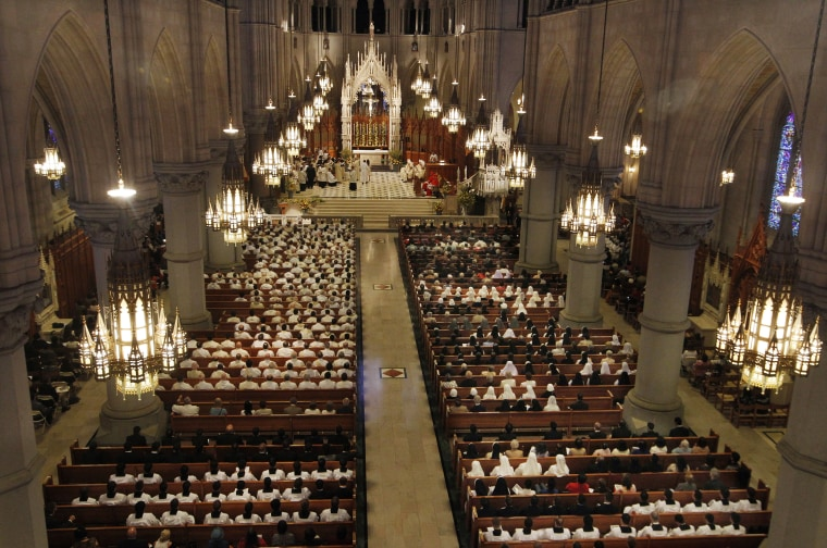 Mass at Cathedral Basilica of the Sacred Heart on Sept. 22, 2012, in Newark, New Jersey.
