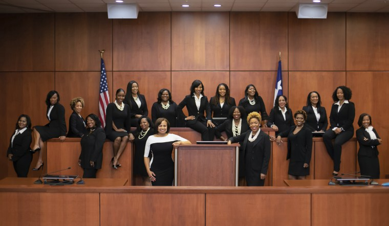 """Image: Seventeen African-American women, part of an effort dubbed the \""""Black Girl Magic\"""" campaign, were elected as Houston-area judges in 2018."""