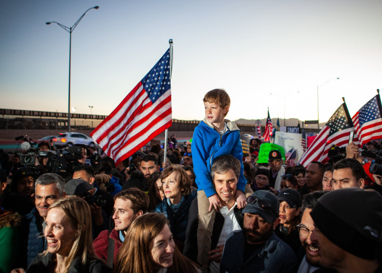 Image: ***BESTPIX*** Beto O'Rourke Joins Protest March Against President Trump In El Paso