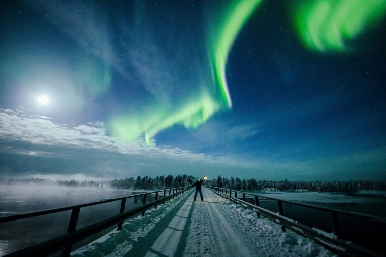 Image: The Aurora Borealis (Northern Lights) is seen over the sky near Inari in Lapland