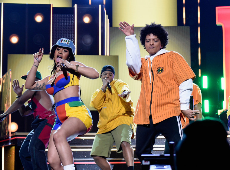Image: Cardi B and Bruno Mars