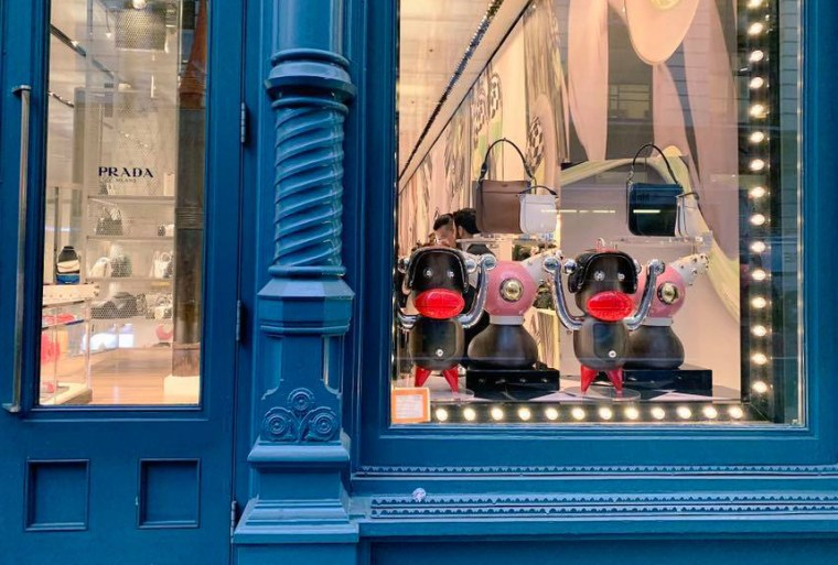 Image: A display at a Prada store in Manhattan on Dec. 13, 2018.