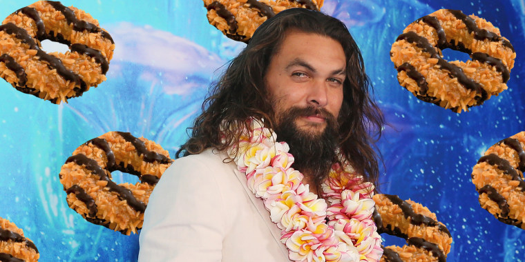 Girl Scout Creates Jason Momoa Themed Samoa Cookies