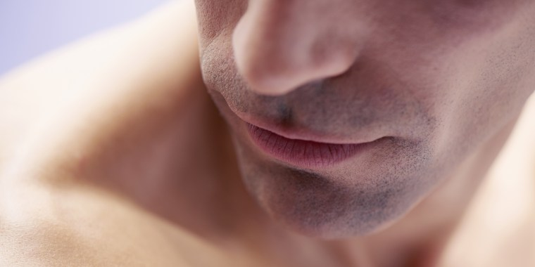 closeup of mans face
