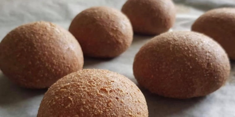 """Try baking this \""""healthified,\"""" keto-friendly bread for a nearly carb-free sandwich. It's easy!"""