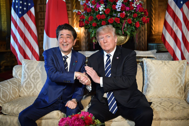 Image: Trump and Abe