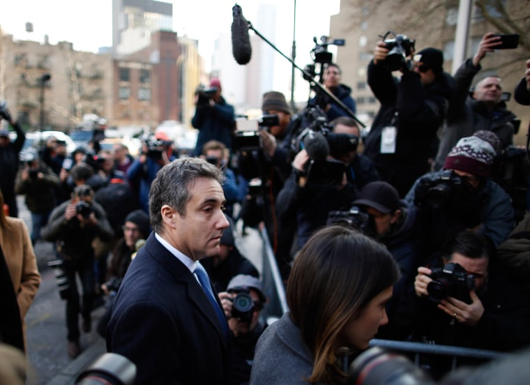 Michael Cohen arrives at federal court for his sentencing hearing, on Dec. 12, 2018 in New York.