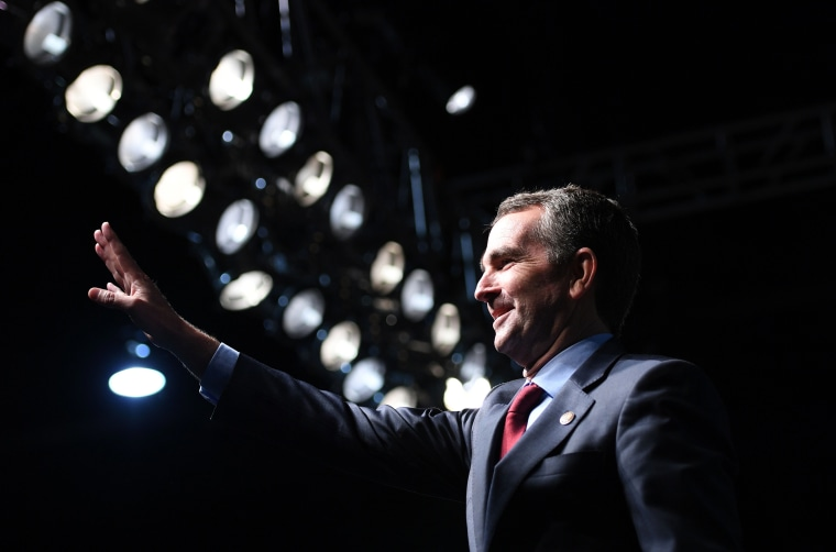 Ralph Northam at a campaign rally in Richmond, Virginia, on Oct. 19, 2017.
