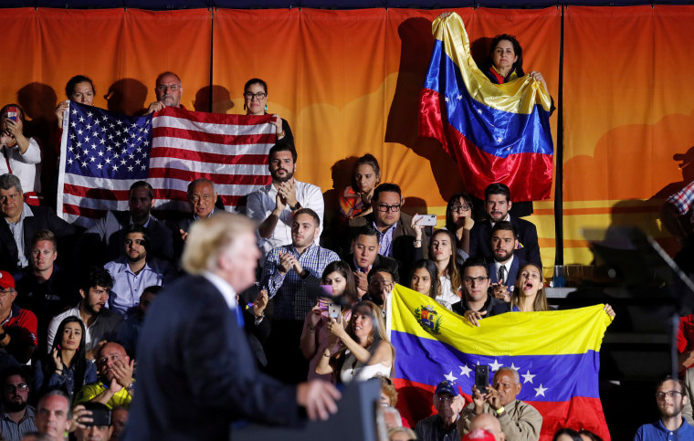 President Donald Trump speaks about the crisis in Venezuela during a visit to Florida International University in Miami