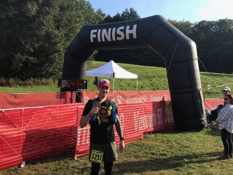 Jason Mosel at the Vermont 50, a 50 mile race in September of 2018.
