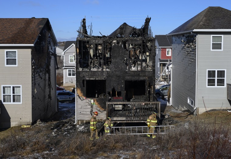 Image: Halifax fire kills refugee family