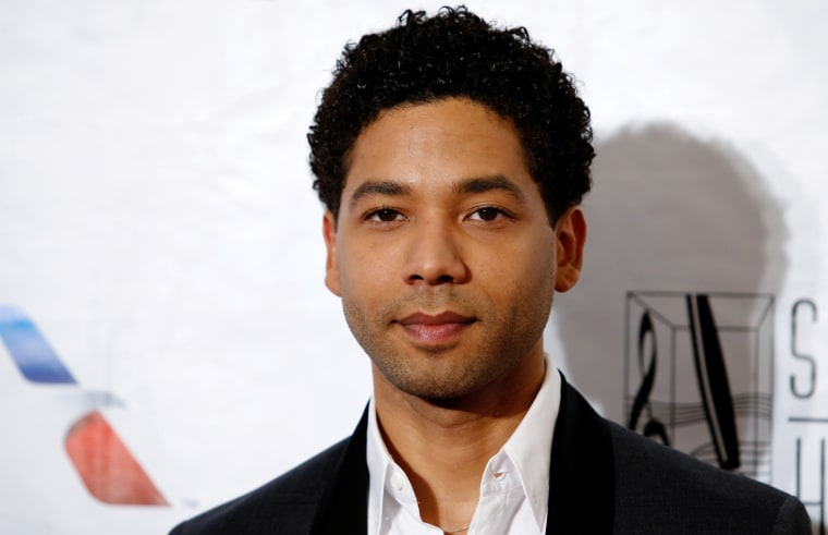 Image; Jussie Smollett before the Songwriters Hall of Fame ceremony in New York on June 9, 2016.