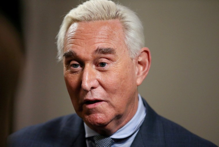 Image: Longtime Trump ally Roger Stone gives an interview to Reuters in Washington