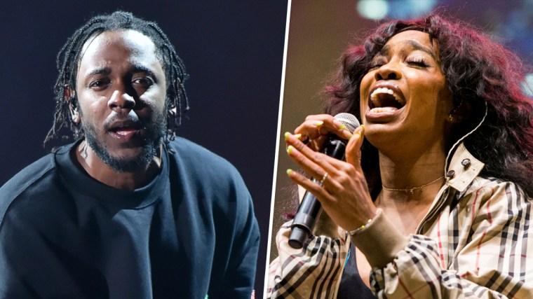 Image: Kendrick Lamar and SZA.