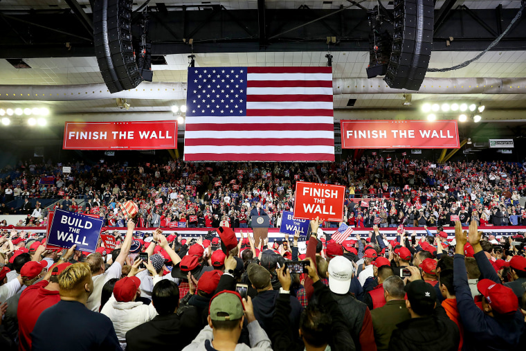 Image: President Donald Trump speaks at a rally in El Paso on Feb. 11, 2019.