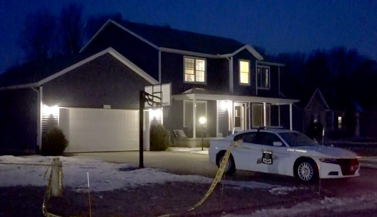Image: An Indiana State trooper was shot inside his home in Granger on Feb. 21, 2019.