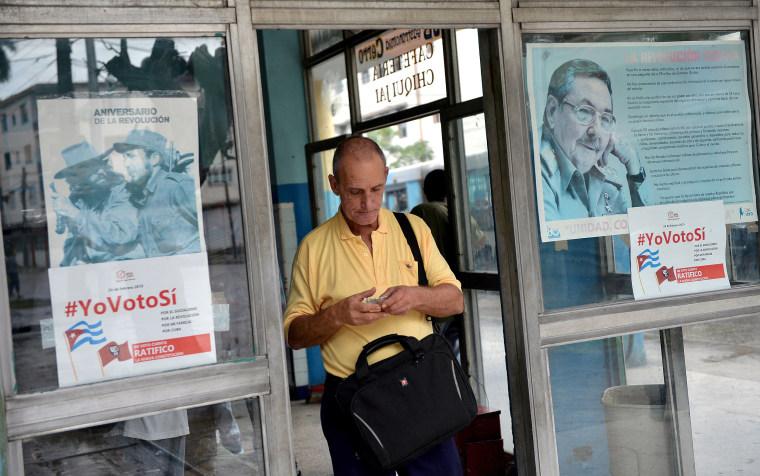 Image: CUBA-CONSTITUTION-CAMPAIGN