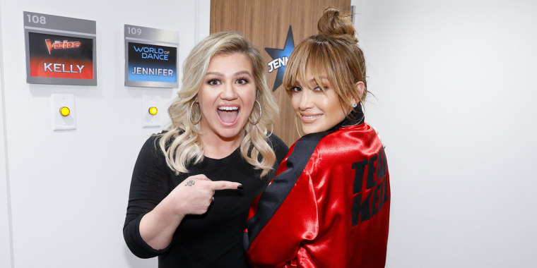 Kelly Clarkson and J.Lo